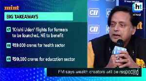 News video: Gone from Stand Up India slogan to Sit Down India budget Shashi Tharoor