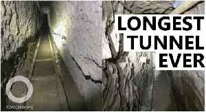 Super-long smuggling tunnel found at U.S.-Mexico border [Video]