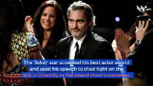 Joaquin Phoenix Calls out BAFTA for Lack of Diversity [Video]