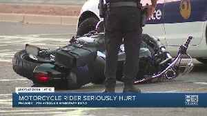FD: Motorcyclist without a helmet in critical condition after Phoenix crash [Video]