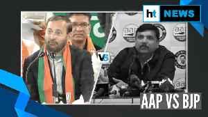 Delhi Election 2020: Javadekar calls Kejriwal a terrorist; AAP hits back [Video]