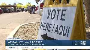 Arizona ballot laws tossed [Video]