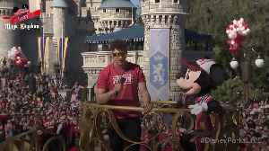News video: Patrick Mahomes celebrates Super Bowl victory at Disney World