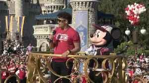 News video: Patrick Mahomes takes part in Super Bowl victory parade at Walt Disney World