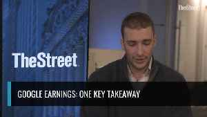 News video: Google Shares Fall After Earnings: One Key Takeaway