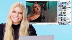 Jessica Simpson Watches Fan Covers On YouTube [Video]