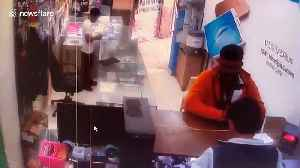 CCTV footage shows smartphone explode at service station in western India [Video]