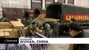 Coronavirus: China readies thousands of new hospital beds in Wuhan [Video]