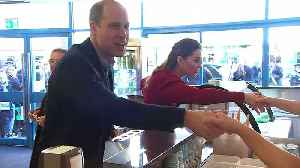 Prince William and Kate visit ice cream parlour by sea front [Video]