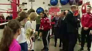 Cambridges stop at boxing club on royal engagement [Video]