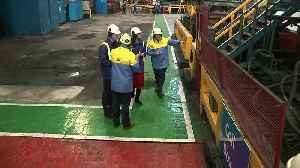 Prince William and Kate visit Tata Steel plant in Wales [Video]