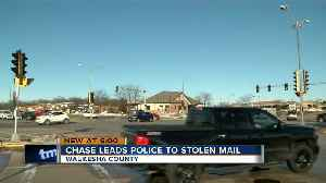 Chase leads police to stolen mail in Waukesha County [Video]