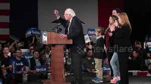 News video: Crowd chants 'Not Me. Us' as Bernie Sanders takes the stage in Iowa despite delay in results
