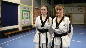 A mother and daughter have both won gold in Taekwondo [Video]
