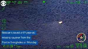 WEB EXTRA Kayaker Rescued From Everglades [Video]