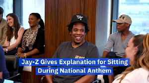 Jay-Z Gives Explanation for Sitting During National Anthem [Video]