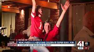 Newlyweds and Chiefs fans celebrate Super Bowl win [Video]