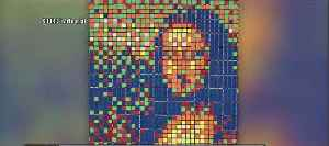 Rubik's Cube Mona Lisa up for auction [Video]
