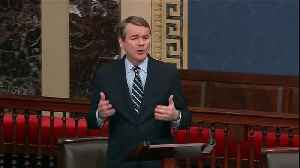 Sen. Michael Bennet speaks before impeachment vote [Video]