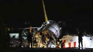 Turkish Plane Crashes After Skidding Off Runway In Istanbul [Video]