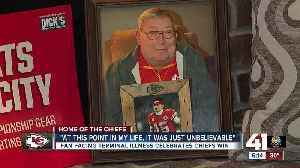 News video: Fan facing terminal illness celebrates Chiefs win