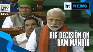 Watch: PM Modi announces formation of Ram temple trust in Lok Sabha [Video]