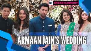 Watch: SRK, Rekha, Alia among other B-town celebs grace Armaan Jain's wedding [Video]