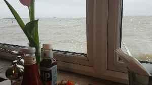 Seaside Restaurant Swamped by Huge Tide [Video]