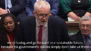 Corbyn attacks PM over climate change record during PMQs [Video]