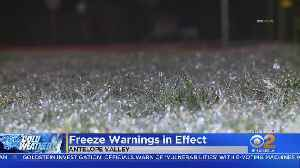 SoCal Wakes Up To Freezing Temperatures [Video]