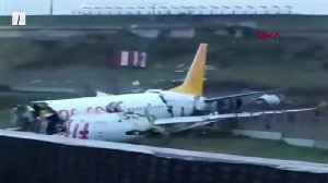 Plane Crashes After Landing In Istanbul [Video]