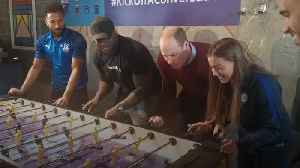 Prince William joins competitive game of table football [Video]