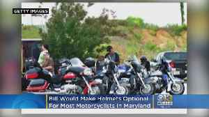 Bill Would Make Helmets Optional For Most Motorcyclists In Maryland [Video]