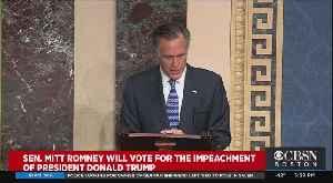 Mitt Romney Will Vote For The Impeachment Of President Trump [Video]