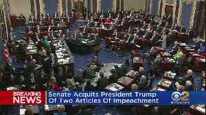 Senate Acquits President Trump Of Two Articles Of Impeachment [Video]