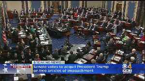 Senate Votes To Acquit President Trump On 2 Articles Of Impeachment [Video]