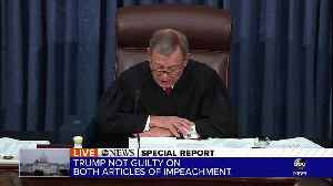 Special Report: President Trump not guilty on both articles of impeachment [Video]