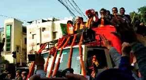 BJP roadshow in Hari Nagar reverberated with 'Amit Shah Zindabad' [Video]