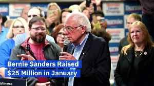 Bernie Sanders Raised $25 Million in January [Video]