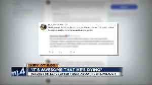 'It's awesome that he's dying:' Teacher on leave after tweet about Rush Limbaugh [Video]