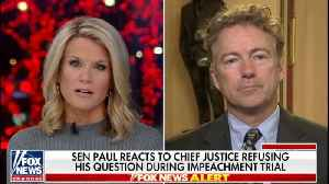 Rand Paul says Justice Roberts shouldn't have censored his question at impeachment trial [Video]