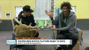 Bucks 'LoBros' Brook and Robin Lopez read to kids at Next Door Milwaukee [Video]