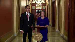 With Pelosi, Guaido thanks his 'friends of democracy' [Video]