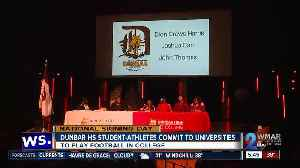 Dunbar, St. Frances student athletes commit to universities to play football in college [Video]