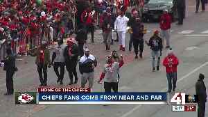 Chiefs fans come from near and far [Video]