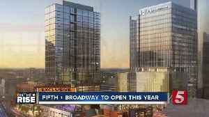 Fifth + Broadway's office tower housing AllianceBernstein HQ tops out [Video]