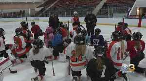 Hockey Players Celebrate National Girls And Women In Sports Day At University Of Pennsylvania [Video]