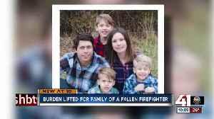 Burden lifted for family of fallen firefighter [Video]