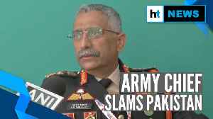 News video: 'Pakistan getting desperate to push terrorists across border': Army Chief