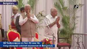 Karnataka MLAs take oath as cabinet ministers in long-delayed expansion [Video]